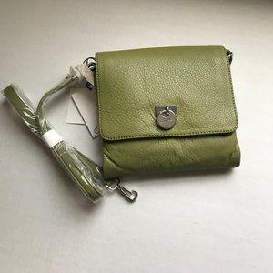 Calvin Klein Leather Crossbody Bag Lime Green